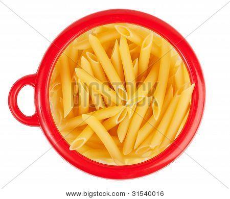 Pasta In A Circular Bank Of Red O