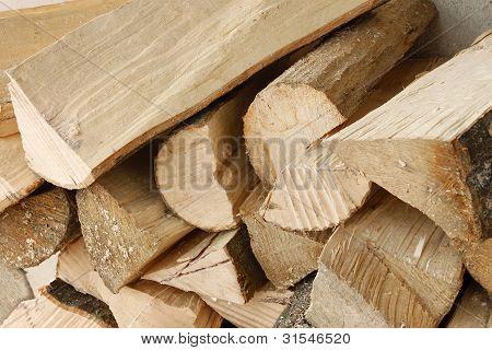 Heap Of Hornbeam Firewood