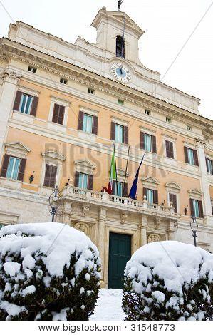 Palazzo Montecitorio, Rome (italy).
