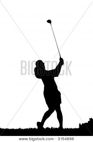 Golf Swing Silhouette