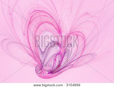 Pink Heart Swirl