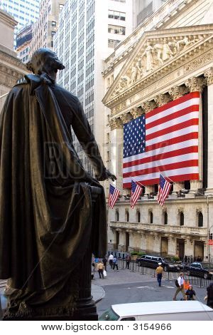 George Washington na bolsa de Nova York