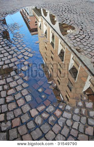 Reflection Of Old Buildings, Novara