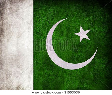 Pakistan Flag Grunge