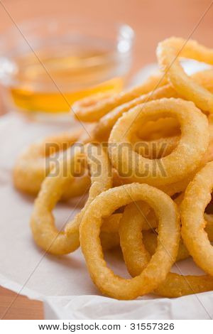 Onion Ring With Honey Sauce