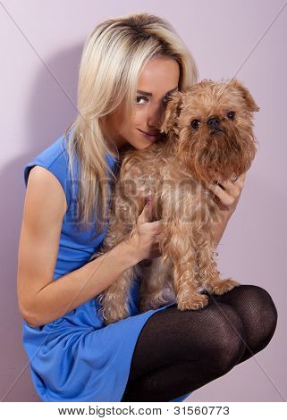 Woman With A Dog