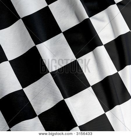 Primer plano de la bandera a cuadros