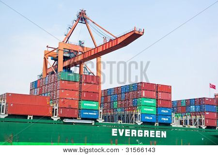 Green Container Ship