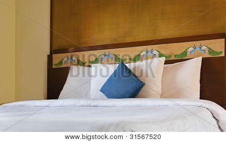 Bedroom Interior Peacock Headboard