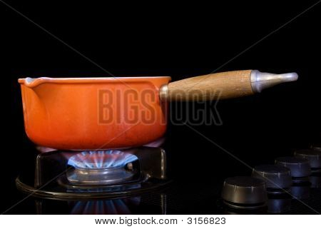 Cooking Pot On Stove