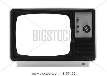Tv retro - aislado con trazados de recorte