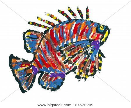 Lionfish Scoprionfish Abstract Image