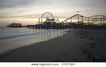Santa Monica Pier Dämmerung