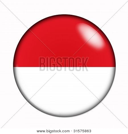 Button Flag Of Indonesia