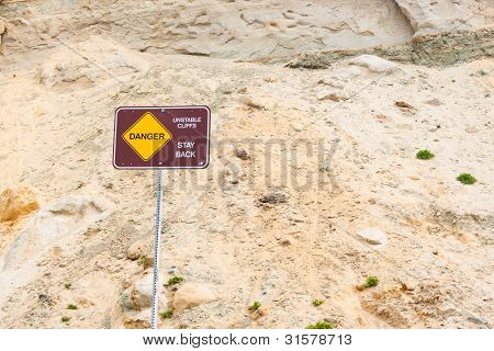Danger Sign, Unstable Sign