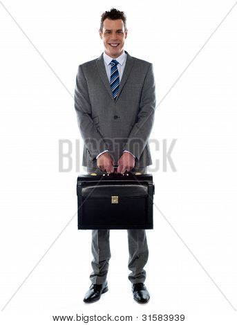 Comany's Ceo Holding His Handbag