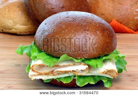 Sándwich de pavo en rollo