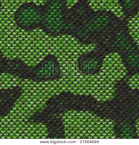 Snake Scale Seamless Pattern Alien Armor Design