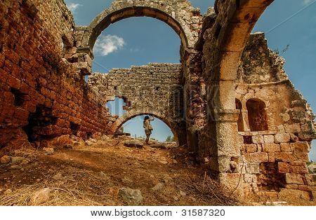 Exploring ancient places