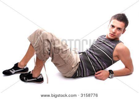 Youn Casual Man Posing