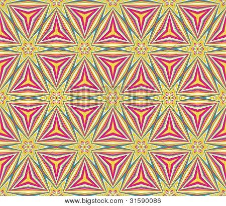 Colorful triangular mosaic