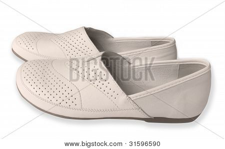 Womens White Moccasins