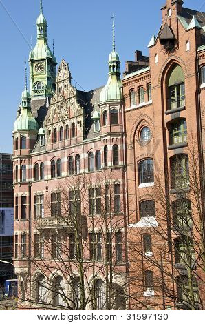 Building in the old Harbor Hamburg