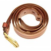 picture of frazzled  - used broun leather belt - JPG