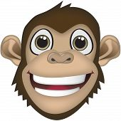 Chimpanzee Vector Cartoon Illustration