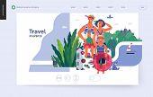 Travel Insurance -medical Insurance Illustration -modern Flat Vector Concept Digital Illustration -  poster