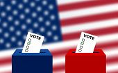 United States Elections. Us Midterm Elections: The Race For Congress. Elections To Us Senate, Prepar poster