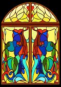 foto of stained glass  - Window stained glass - JPG