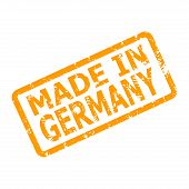 Made In Germany Rubber Stamp For Place Of Manufacture. Product Made In Germany, Badge Certificate Gu poster
