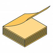 Office Paper Stick Icon. Isometric Of Office Paper Stick Vector Icon For Web Design Isolated On Whit poster