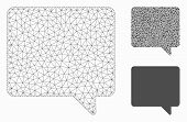Mesh Message Model With Triangle Mosaic Icon. Wire Carcass Triangular Mesh Of Message. Vector Mosaic poster