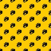 Clamping Machine Pattern Seamless Vector Repeat Geometric Yellow For Any Design poster
