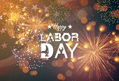 Poster For Labor Day Usa. Happy Labor Day Banner, American Patriotic Background - Vector poster
