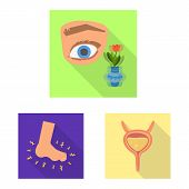 Vector Design Of Symptom And Disease Sign. Collection Of Symptom And Treatment Stock Vector Illustra poster