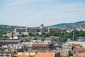 Panorama Of Budapest And Castle Royal Palace From Top Of The St. Stephens Basilica, Budapest, Hunga poster