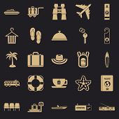 Travel Guide Icons Set. Simple Set Of 25 Travel Guide Icons For Web For Any Design poster