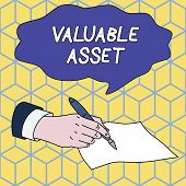 Text Sign Showing Valuable Asset. Conceptual Photo Your Most Valuable Asset Is Your Ability Or Capac poster