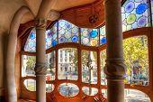 stock photo of gaudi barcelona  - Casa Batllo - JPG
