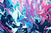 Blue-white-pink Marble Spots. Abstract Background. Background, Design, Abstraction, Art. Good For La poster