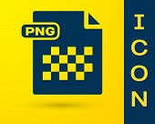 Blue Png File Document. Download Png Button Icon Isolated On Yellow Background. Png File Symbol. Vec poster