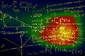 picture of pythagoras  - Science Mathematics Physics Illustration formulas in a cool design - JPG