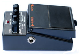 foto of ibanez  - isolated analog distortion rock guitar pedal black  - JPG