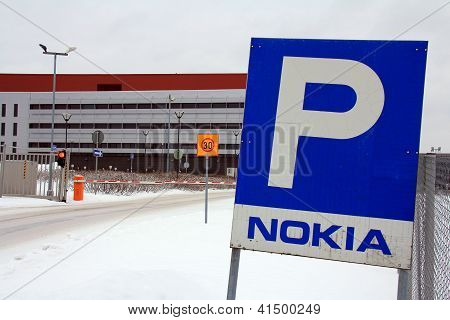 Closed Gate At Nokia Factory, Salo, Finland