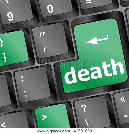 Keyboard With Death Word Button