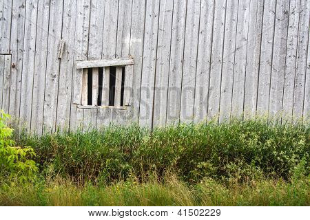 Wood barn window