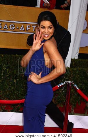 LOS ANGELES - 27 de JAN: Jordin Sparks llega a Guild Awards del 2013 pantalla Actor en el Santuario A